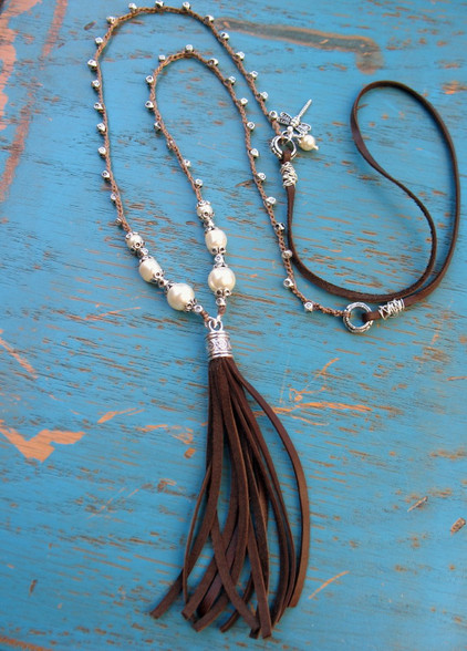 Leather Fringe Tassel Bohemian Necklace
