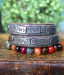 You Can't Have a Rainbow Without a Little Rain Wrap Bracelet