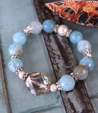 Blue Agate Luxury Stretch Bracelet