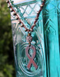 Breast Cancer Survivor Awareness Bohemian Necklace