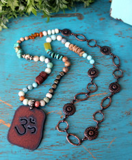 Om Yoga Bohemian Necklace