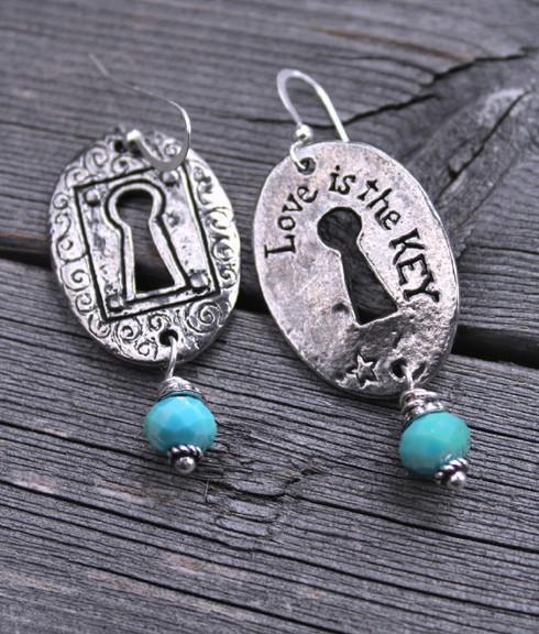 Love is the Key Earrings
