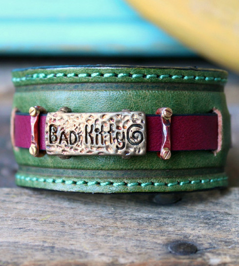 Bad Kitty Leather Cuff