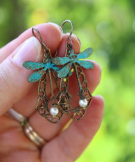 Dragonfly Vintage Earrings