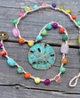 Colorful Crochet Sand Dollar Necklace
