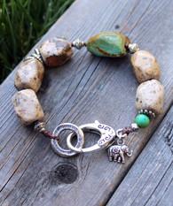 Earthy Gemstone Bracelet