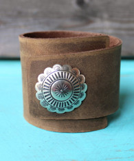 Asymmetrical Leather Cuff