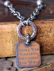 Change Your Thoughts And Change Your World Necklace