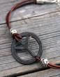 Peace Sign Boho Leather Bracelet