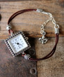 Delicate Leather Watch Bracelet