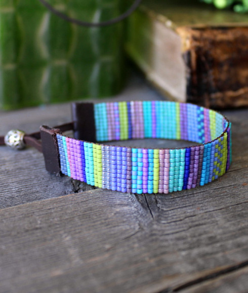 Handwoven Beaded Bracelet - Ava