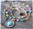 Multi-Color Bohemian Crocheted Necklace