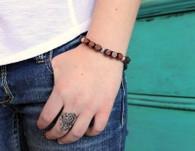 Beaded Wood Stretch Bracelet
