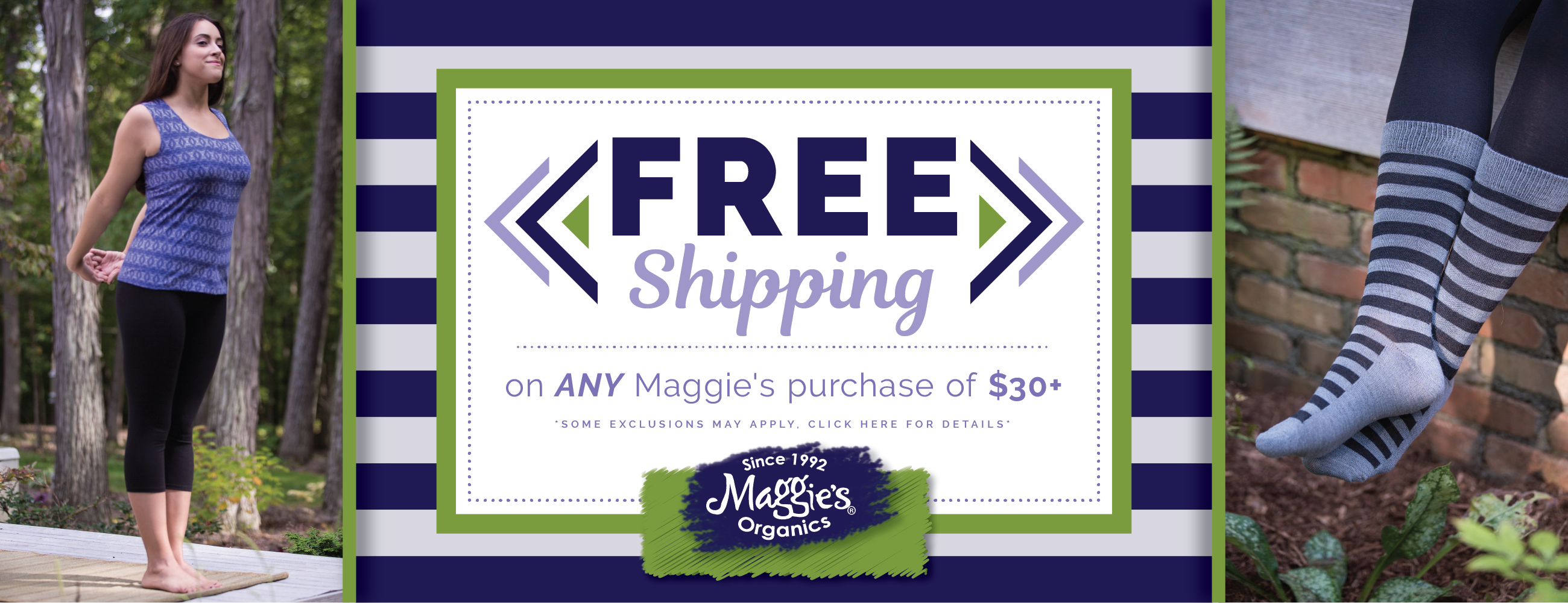 Free Shipping on any purchase $30+