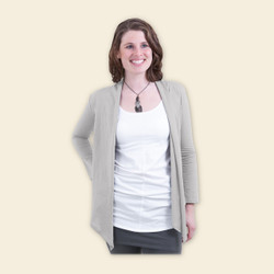 Organic Cotton Wrap Top - Mist