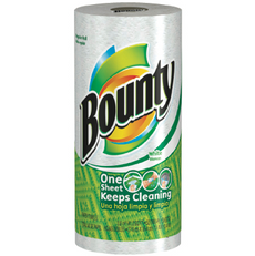"Bounty® Roll Towels, 2 Ply, 4-9/10"" W x 11"" L, White, (30 Rolls/Case)"