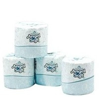 Angel Soft Toilet Tissue, 2 Ply, White, 80 Rolls Per Case