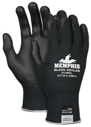 Memphis Black Kevlar®, 13 Gauge DuPont™ Kevlar®/Synthetic Fibers, Nitrile Foam Palm/Fingers