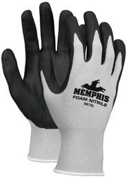 Memphis™, 13 Gauge Gray  Nylon, Black Foam Nitrile Dipped Palm/Fingers