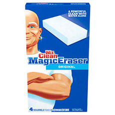 Mr. Clean Magic Erasers, White- 4 Per Package, 24 Per Case