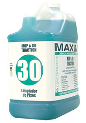 Maxim Mop & Go Traction Floor Cleaner, 1 Gal Bottle, 4 Bottles Per Case