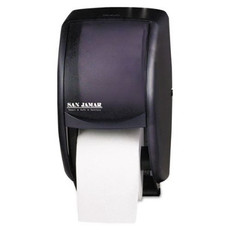 Toilet Tissue Dispenser, 2-Roll Standard Duet, Black