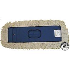 "Zephyr Utility+™ Industrial Dust Mops, 5"" W x 48"" L, 6 Ply, White, Slip-On, Cotton (6 Each Per Case)"