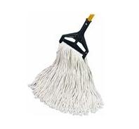 """Cut-End Wet Mop Heads, 24 oz, 1"""" Head Band, White, Cut End, Cotton (12 Per Carton)"""