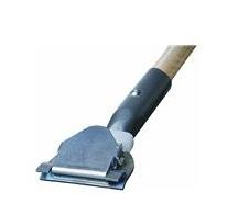 """Dust Mop Handle, 60""""L, 1""""Dia, Natural, Clip On, Wood, Ea"""