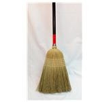 "Zephyr Janitor Brooms, 1-1/8"" Dia, #31J,30, Natural Broom/Black Handle, 5-Sew, Mixed Fibers, Each"
