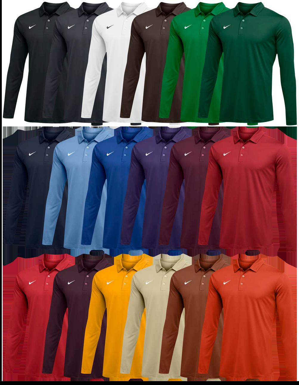Custom Nike Long Sleeve Polo Shirts