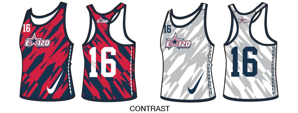 Custom Nike Women's Lacrosse Pinnies and Reversible Practice Jerseys