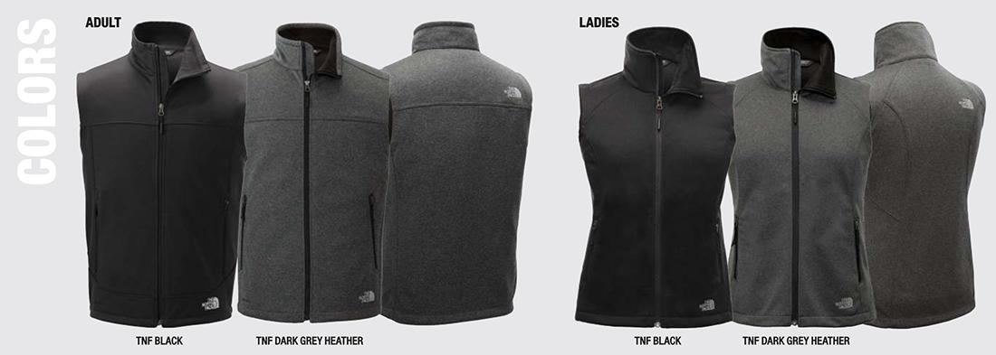 Custom North Face Ridgeline Soft-Shell Vests