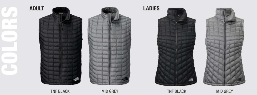 Custom North Face Thermoball Down Vests
