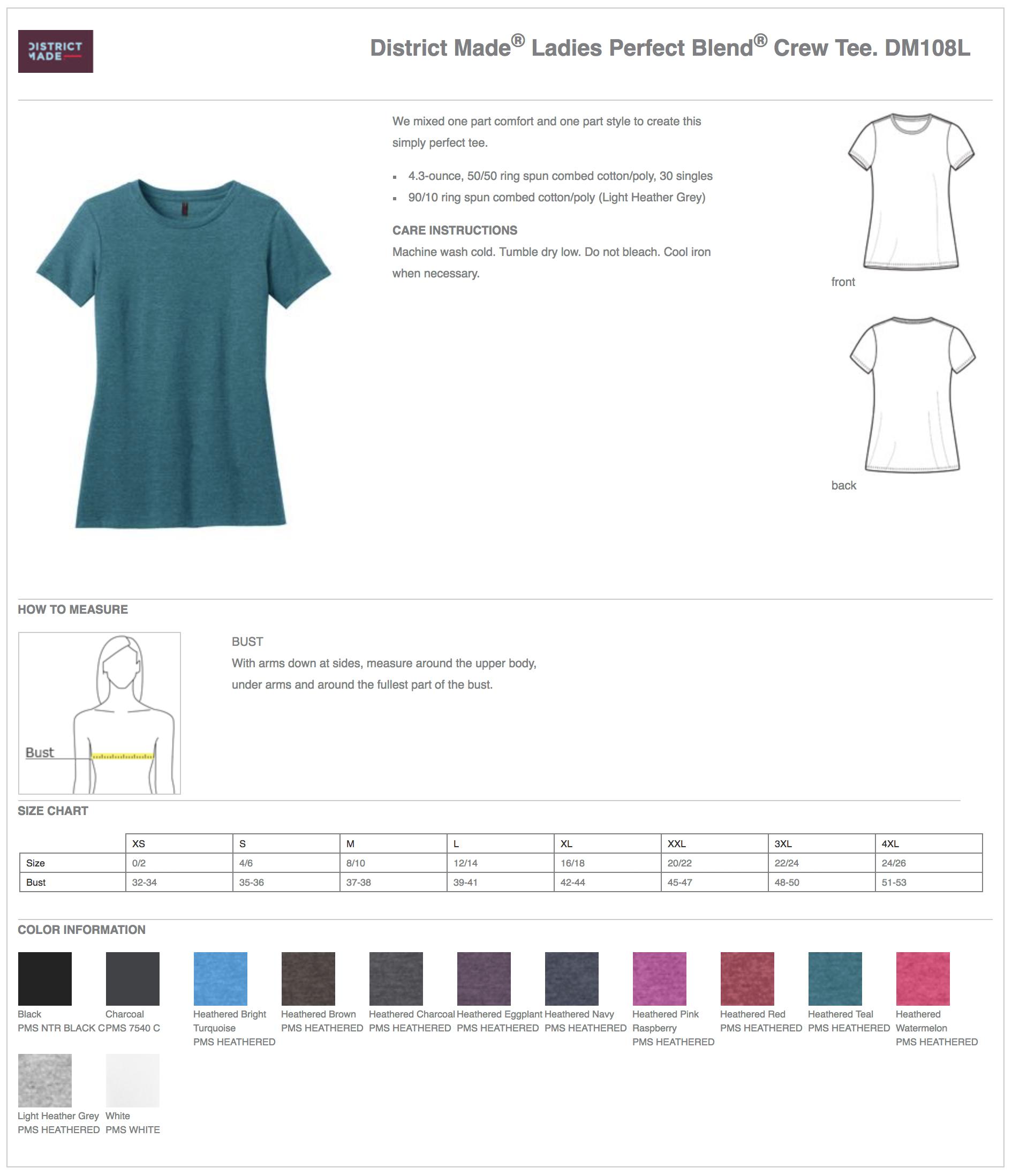 District Made DM108L Women's Custom T-Shirts