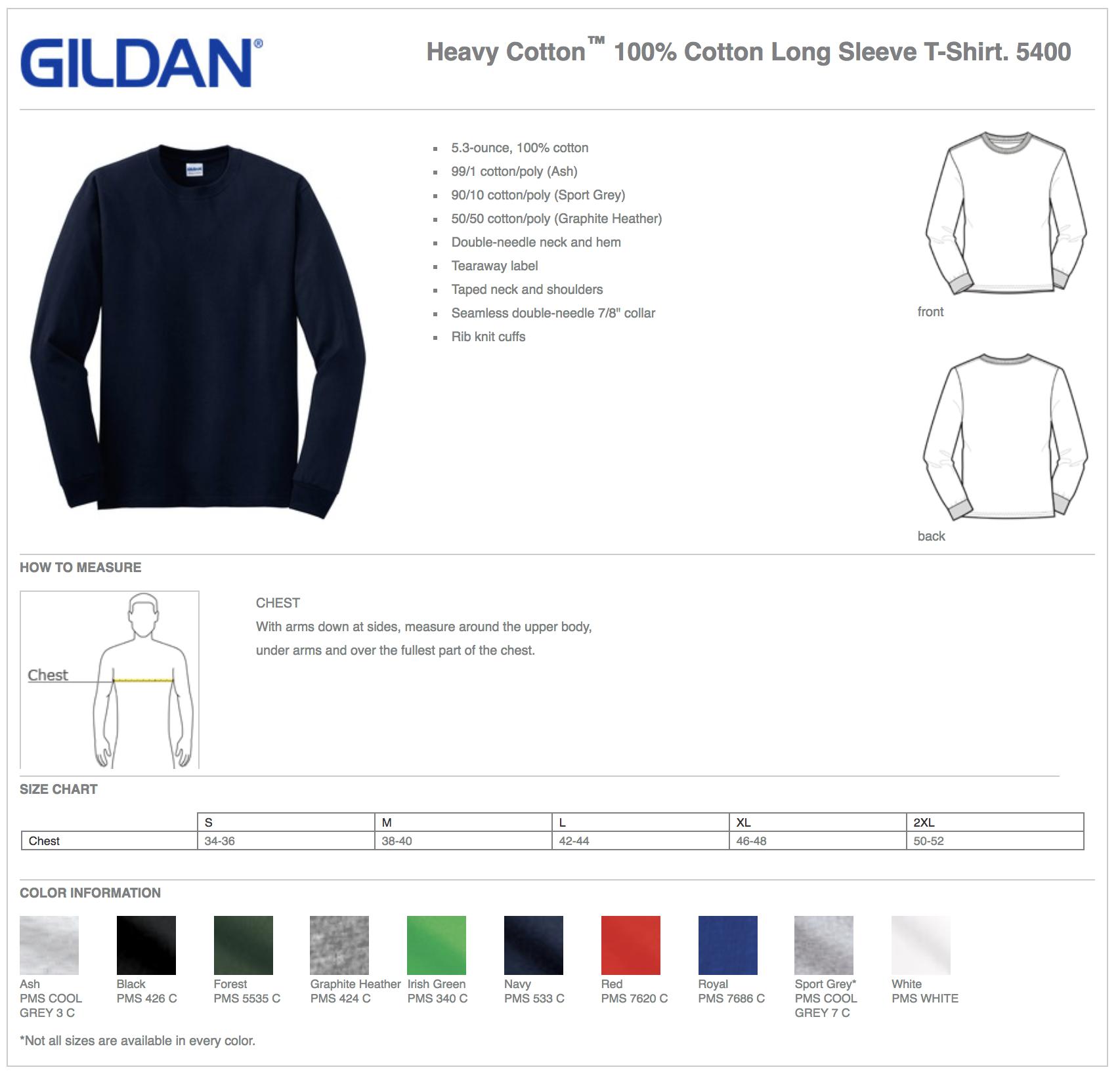 Gildan 5400 Long Sleeve Custom T-Shirts