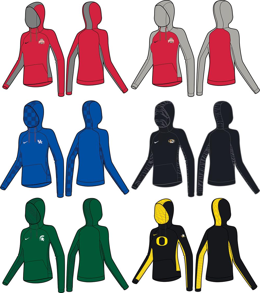 Nike Women's Custom Sublimated Hoodies
