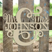 Mr and Mrs Name Frame