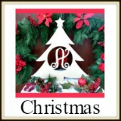 Shape Framed Monogram Christmas