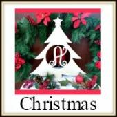 Shape Framed Monogram Christmas