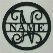 Circle Name Frame