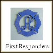Shape Framed Monogram First Responders