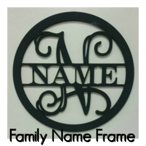 Family Name Frame