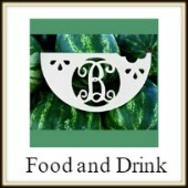 Shape Framed Monograms Food and Drink