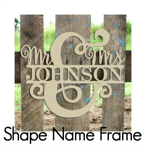 Shape Name Frame