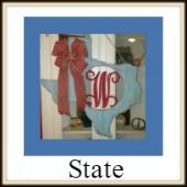 Shape Framed Monogram State