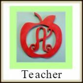 Shape Framed Monogram Teacher