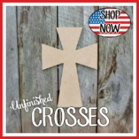 Unfinished Craft Crosses, Wooden Cross, Wood crosses for sale, DIY Crosses paintable