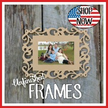 Unfinished Picture Frames, Photo frames, paintable picture frames