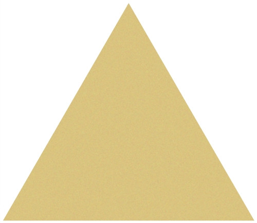 Triangle Unfinished Cutout Wooden Shape Paintable Wooden